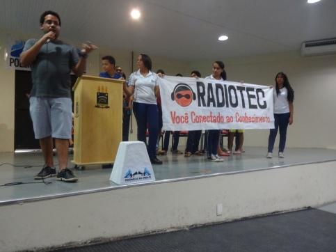 Lançamento oficial da Radiotec (Foto: aluna Millena Karla)