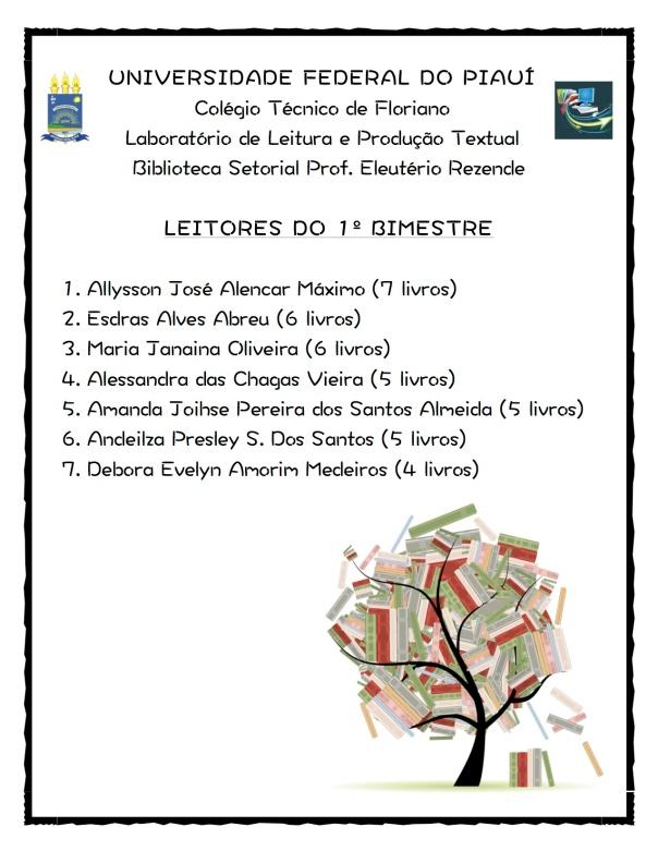 Cartaz - Leitores do Bimestre