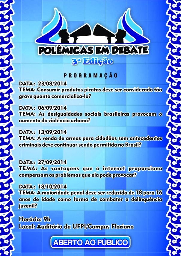 Cartaz Polêmica em Debate 1