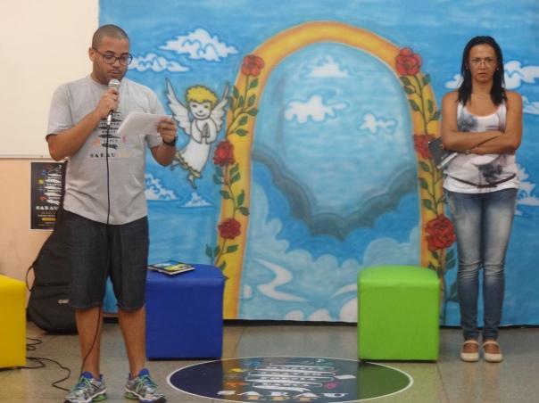 Abertura do Sarau - Professores Ribamar Batista e Elizabeth Rocha