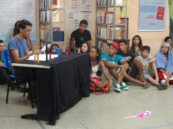Declamação de poesia por José Daniel (aluno do IFPI/Floriano)